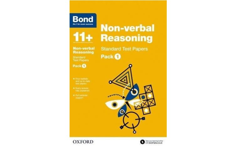 Bond 11+: Non-verbal Reasoning: Standard Test Papers: Pack 1 (Bond 11+)