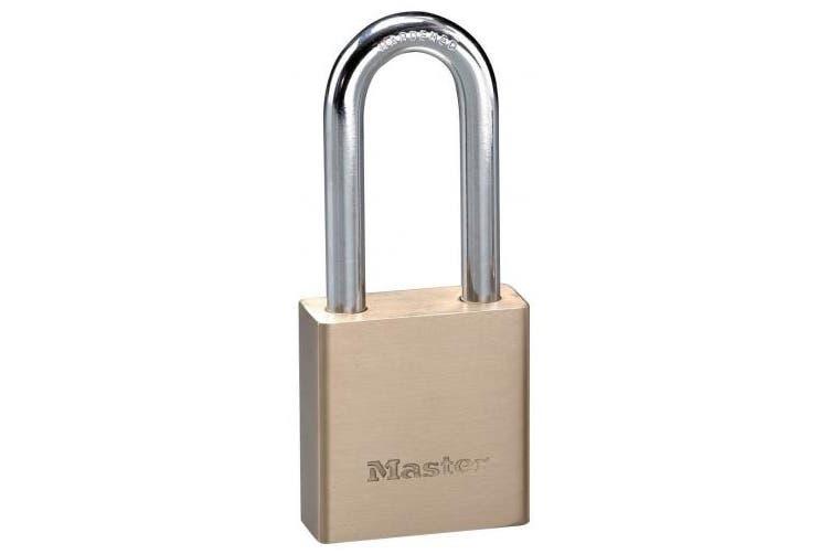 (1) - Master Lock 576DLHPF Solid Brass Padlock, 5.1cm Shackle, 2.5cm - 1.9cm