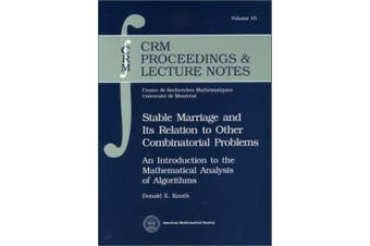 Stable Marriage and Its Relation to Other Combinatorial Problems (CRM Proceedings & Lecture Notes)