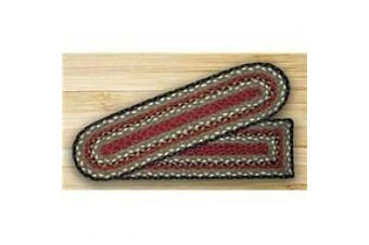 Earth Rugs 39-338 Burgundy-Olive-Charcoal Rectangle Stair Tread