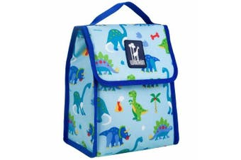 (Dinosaur Land) - Lunch Bag, Olive Kids by Wildkin Lunch Bag, Insulated, Moisture Resistant, Easy to Clean and Folds Flat Making Storage That Much Easier, Ages 3+, Perfect for Kids or On-The-Go Parents – Dinosaur Land
