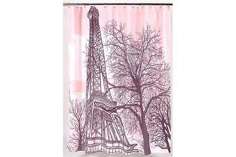 (Multi) - Carnation Home Fashions Tour Eiffel Polyester Shower Curtain