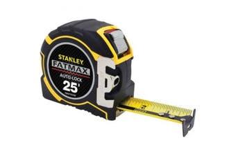 Stanley FMHT33338L FatMax Auto-Lock Tape, 7.6m x 2.5cm - 0.6cm