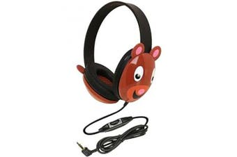 Califone 2810-BE Listening First Kids Stereo and PC Wired Headphones Bear Design