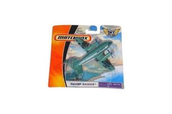 Matchbox MBX Metal Sky Busters Mini (7.6cm W x 10cm L x 5.1cm H) Die Cast Plane # 23 of 24 - Green Animal Rescue Tandem Chopper Helicopter