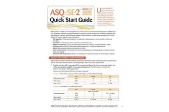 Ages & Stages Questionnaires (R): Social-Emotional (ASQ:SE-2 (TM)): Quick Start Guide (English): A Parent-Completed Child Monitoring System for Social-Emotional Behaviors