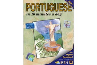 Portuguese in 10 Minutes a Day: Language Course for Beginning and Advanced Study. Includes Workbook, Flash Cards, Sticky Labels, Menu Guide, Software [Portuguese]