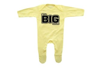 (6 - 12 Months, Lemon Yellow) - Romper Stompers Baby Boy's I See BIG People Rompersuit