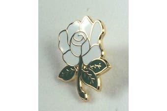 Yorkshire County White Rose English Rose enamel lapel pin badge