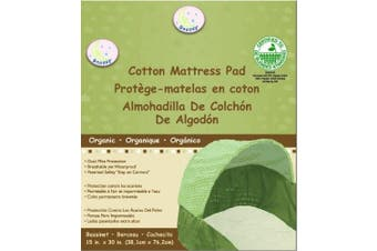 Snoozy 100% Organic Cotton Bassinet Pad, Beige, 38cm x 80cm