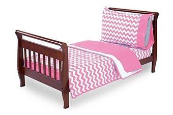 (Pink) - Baby Doll Bedding Chevron Toddler Bedding, Pink