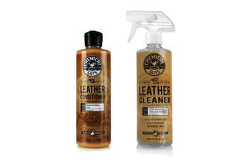 (470ml (2 Items)) - Chemical Guys Leather Cleaner and Conditioner Complete Leather Care Kit (470ml) (2 Items)