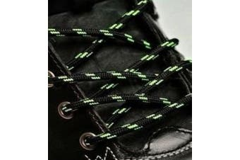 (210cm, Black Neon Green) - Big Laces Round Strong Hiking Boot Laces - 110cm to 210cm