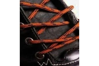 (210cm, Nutmeg Black) - Big Laces Round Strong Hiking Boot Laces - 110cm to 210cm