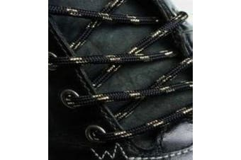 (180cm, Black Gold) - Big Laces Round Strong Hiking Boot Laces - 110cm to 210cm