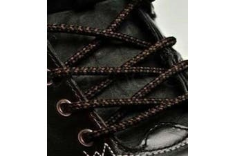 (140cm, Black Brown Mix) - Big Laces Round Strong Hiking Boot Laces - 110cm to 210cm