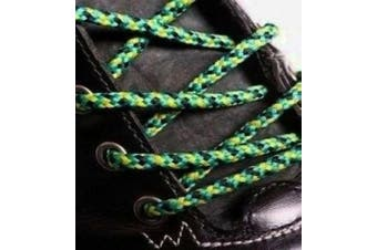 (210cm, Yellow Jade Black) - Big Laces Round Strong Hiking Boot Laces - 110cm to 210cm
