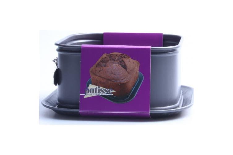 Patisse Nonstick Extra High Profi Square Spring Form, Charcoal