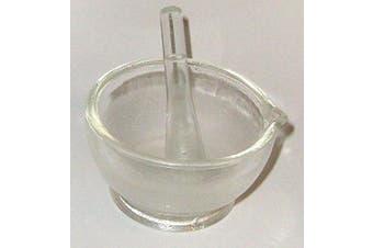 """Glass Mortar and Pestle Set, 3"""" (75 Mm), 120ml"""