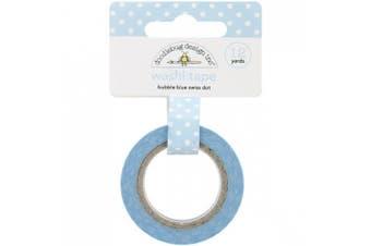 (Bubble Blue Swiss Dot) - Doodlebug Washi Tape 15mmX12yd