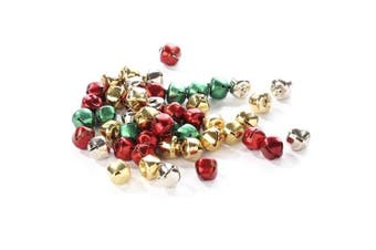 Package of 200 Miniature Assorted Holiday Coloured Jingle Bells