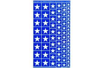 Armour Etch Stencil Rub N Etch Stencil, Stars, 13cm by 20cm