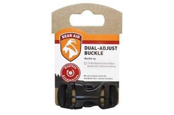 (1.9cm , Black) - Gear Aid Dual Adjust Buckle Kit