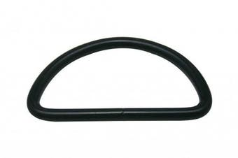 Generic Metal Black D Ring Buckle Large Size D-Rings 5.1cm Inside Diameter for Backpack Bag Pack of 10
