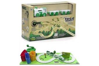 CKB Ltd Recycle Factory Fun Eco-friendly Train Set - Design & Build Your Own Railway