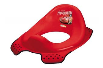 (red) - Disney Baby Toilet Trainer Seat - Cars 2 - Red - Lightning McQueen
