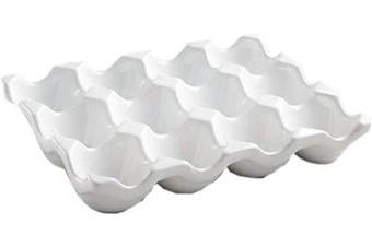 Ceramic Egg Crate 12-cup, White