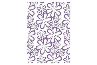 Couture Creations A2 Embossing Folder, Retro Flowers