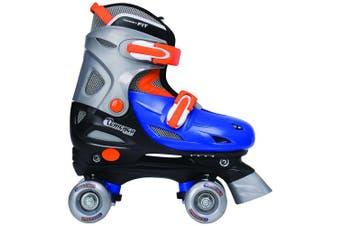 (Medium) - Chicago Boy's Adjustable Quad Roller Skate, Blue/Silver