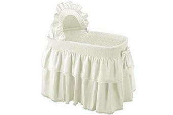 (Ecru) - Baby Doll Bedding Neutral Paradise Bassinet Bedding Set for boy and girly, Ecru (BASSINET NOT INCLUDED).