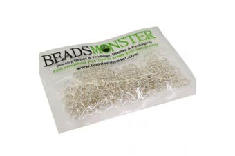 (6mm, Silver) - BeadsMonster Jewellery Findings Jump rings for Jewellery design and Making , Silver Colour, 6mm, 20g