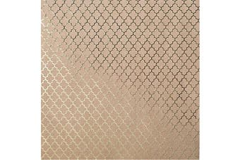 (Gold Lattice) - Bazzill Foiled Kraft Cardstock 30cm x 30cm