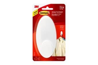 (Large) - Command 17019-ES Clothes Hanger, Large, White, ,