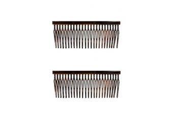 Caravan French Twisty Wirey Teeth Patent Comb Tortoise Shell Pair, Large.1920ml
