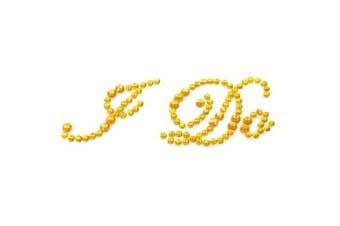 (Gold) - Bride Boutique I Do Wedding Shoe Stickers Crystal Diamante Rhinestone I Do Shoe Sticker