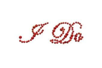(Red) - Bride Boutique I Do Wedding Shoe Stickers Crystal Diamante Rhinestone I Do Shoe Sticker