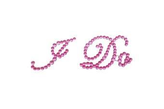 (Pink) - Bride Boutique I Do Wedding Shoe Stickers Crystal Diamante Rhinestone I Do Shoe Sticker