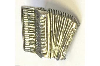 Accordian Hand Made in the UK Pewter Lapel Pin Badge with free 59mm button badge
