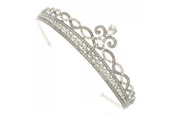 Regal Royal Princess. Crystal Silver Bridal Crown Hair Band Tiara Headband Accessory