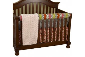 (Here Kitty Kitty) - Cotton Tale Designs Front Crib Rail Cover Up Set, Here Kitty Kitty