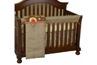 (Peggy Sue) - Cotton Tale Designs Front Crib Rail Cover Up Set, Peggy Sue