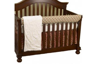 (Raspberry) - Cotton Tale Designs Front Crib Rail Cover Up Set, Raspberry