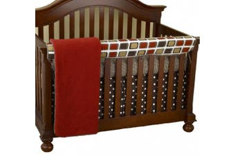 (Houndstooth) - Cotton Tale Designs Front Crib Rail Cover Up Set, Houndstooth