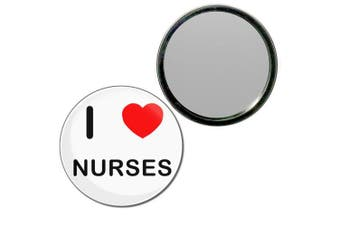 (55mm) - I Love Nurses - 55mm Round Compact Mirror