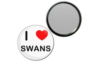 (55mm) - I Love Swans - 55mm Round Compact Mirror
