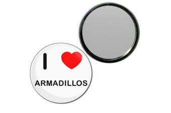 (55mm) - I Love Armadillos - 55mm Round Compact Mirror